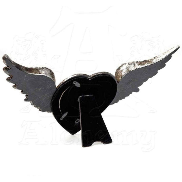 dekorace (fotorámeček) ALCHEMY GOTHIC - Winged Heart(Wings Open)