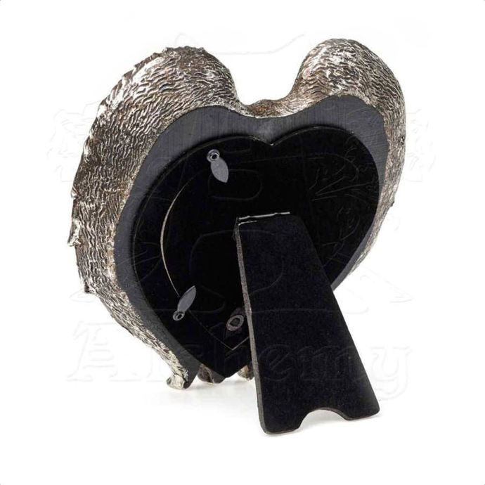 dekorace (fotorámeček) ALCHEMY GOTHIC - Winged Heart (Wings Closed)