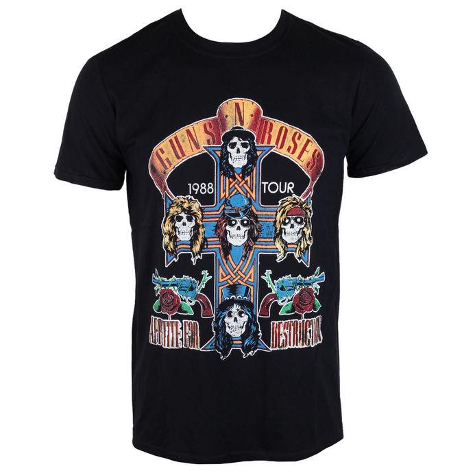 tričko pánské Guns N' Roses - Summer Jam 1988 - Black - ROCK OFF