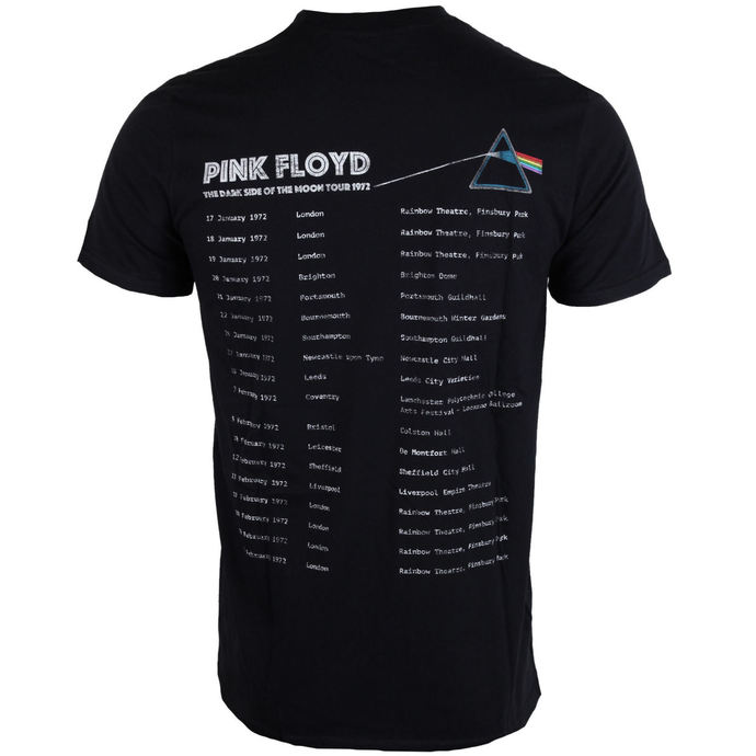 tričko pánské Pink Floyd - Dark Side of the Moon 1972 Tour - Black - ROCK OFF
