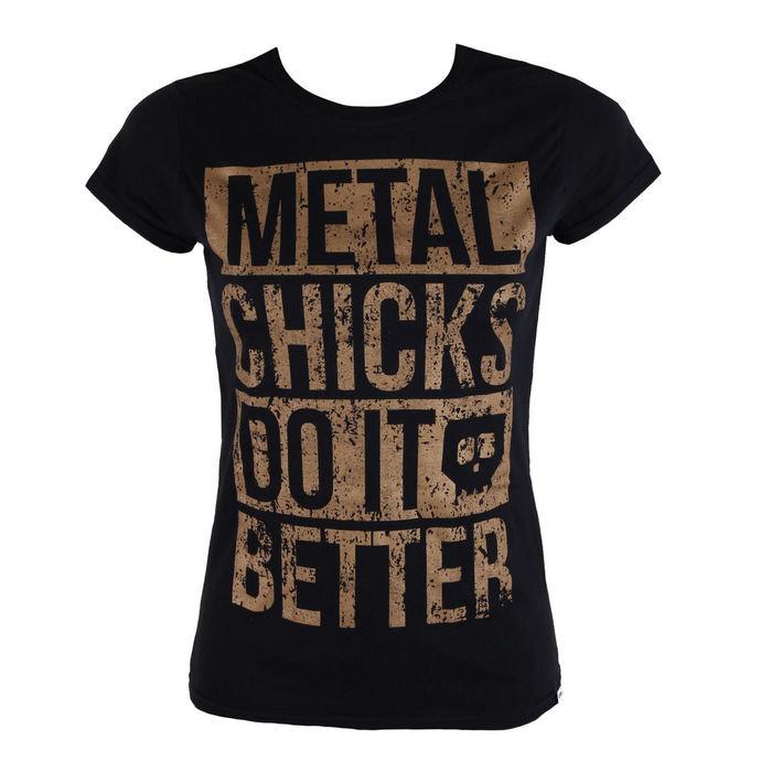 tričko dámské METAL CHICKS DO IT BETTER - Metal chicks - Bronze