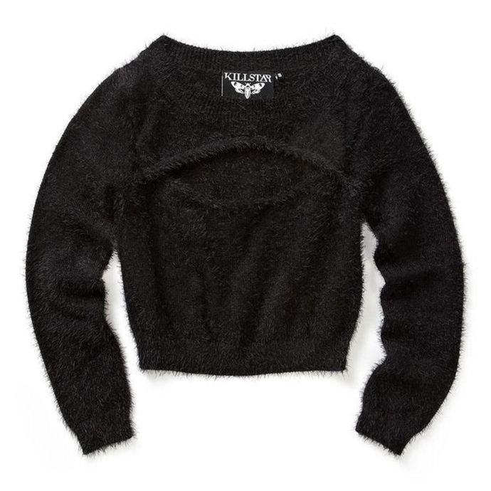 svetr dámský KILLSTAR - Black Out Fuzzy Crop