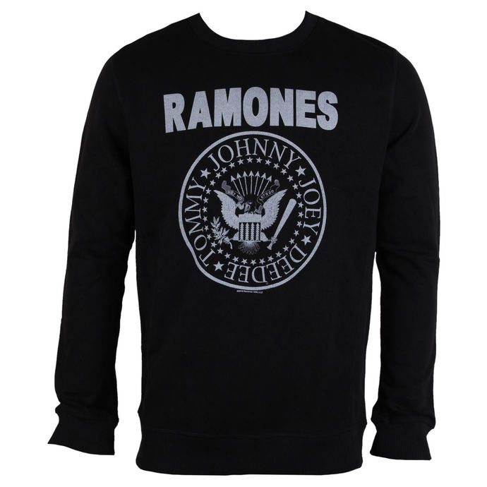 mikina pánská RAMONES - LOGO - Black - AMPLIFIED