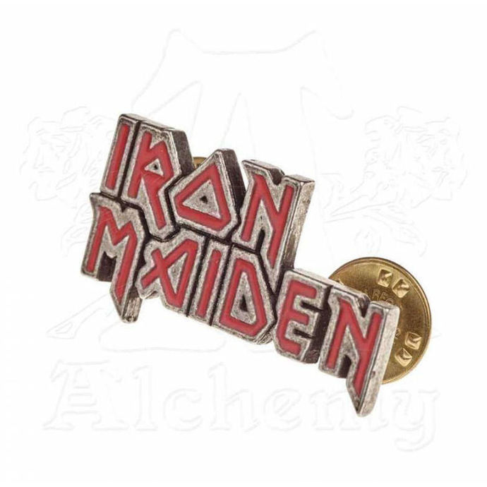 připínáček Iron Maiden - ALCHEMY GOTHIC - Enamel Logo