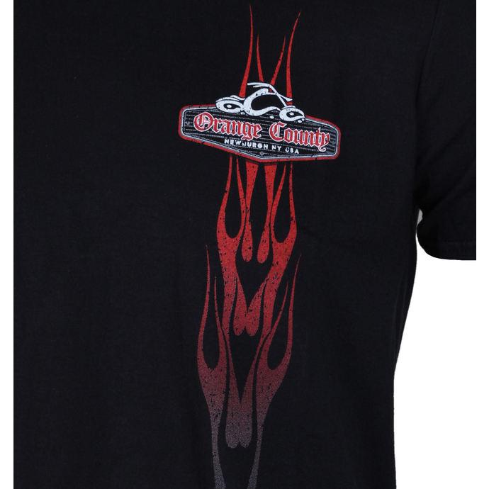 tričko pánské ORANGE COUNTY CHOPPERS - Vertikal Flame - Black