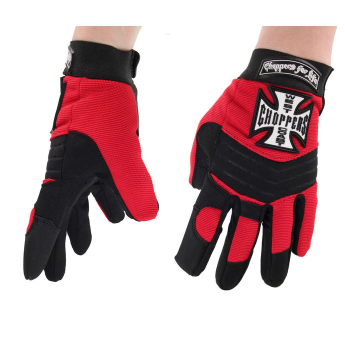 rukavice West Coast Choppers - RIDING - BLACK/RED