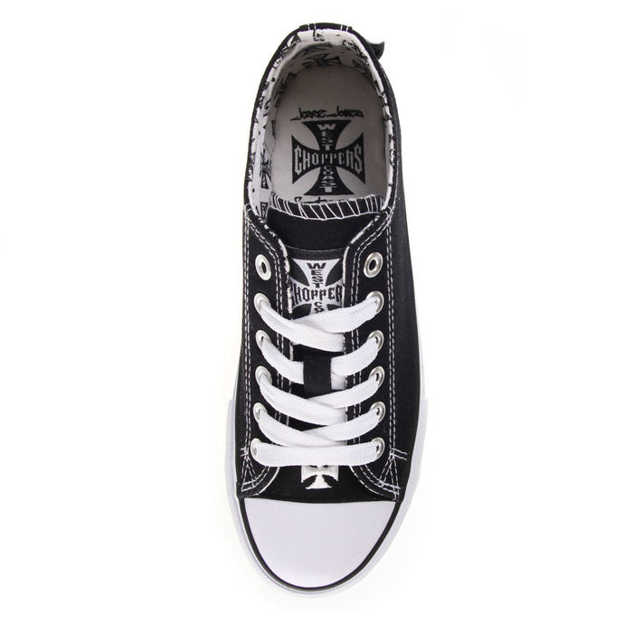 boty West Coast Choppers - WARRIOR LOW-TOP - BLACK