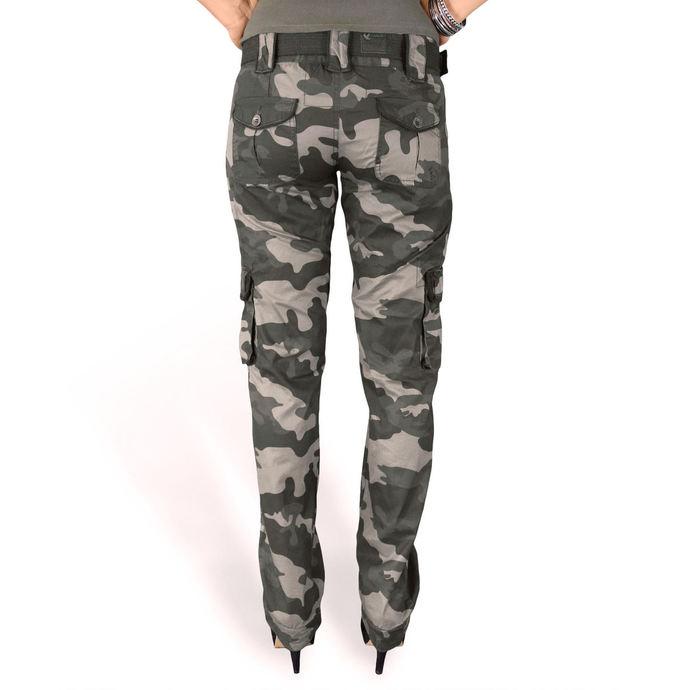 kalhoty dámské SURPLUS - PREMIUM SLIMMY - BLACK CAMO