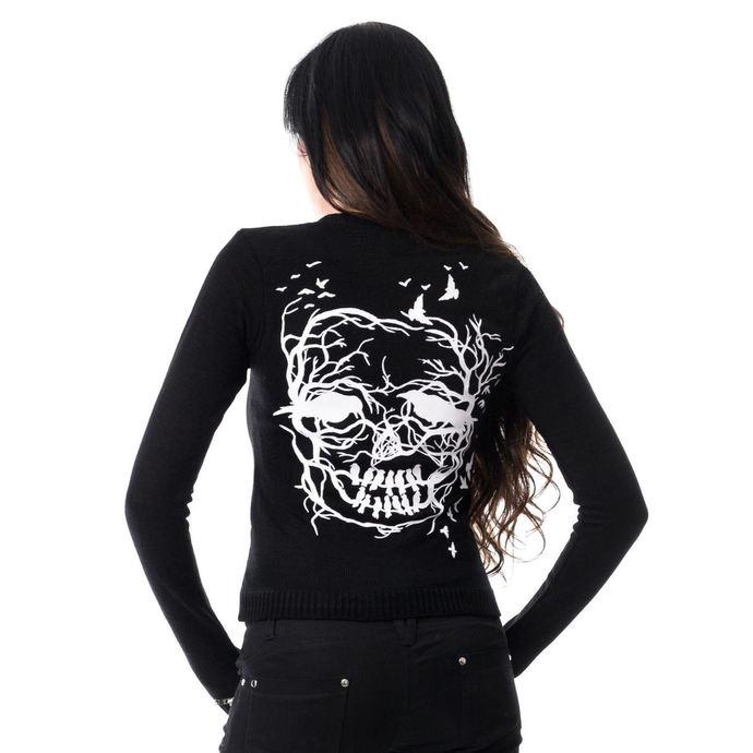 svetr dámský VIXXSIN - SKULL CROW - BLACK