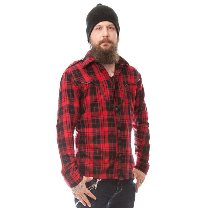 košile pánská VIXXSIN - DOWN TOWN - RED