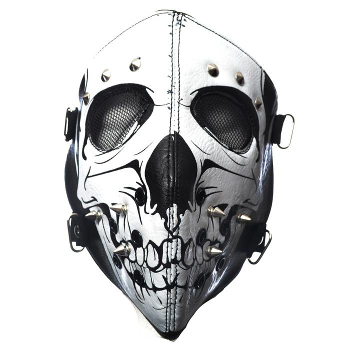 maska POIZEN INDUSTRIES - SKULL FACE - BLACK