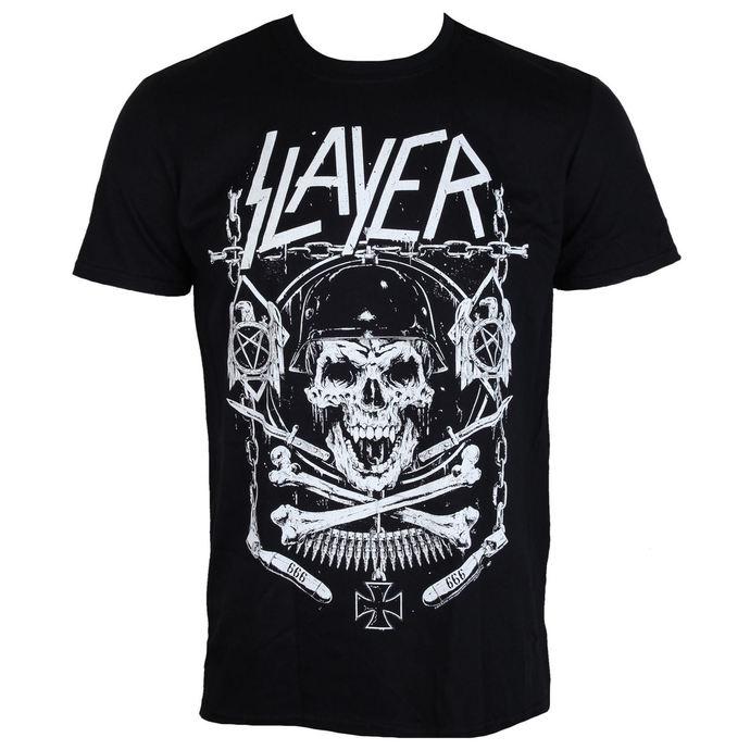 tričko pánské Slayer - Skull & Bones - ROCK OFF