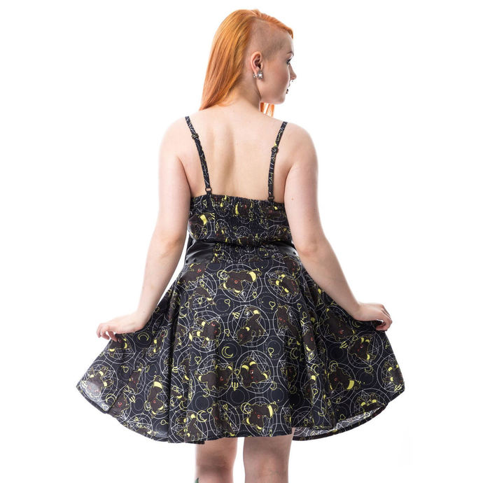 šaty dámské CUPCAKE CULT - MOON FOX - BLACK