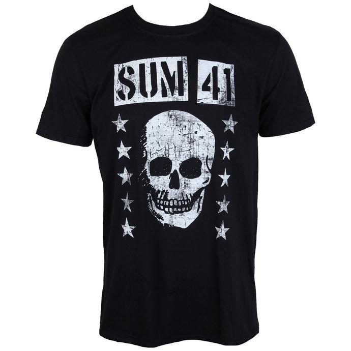 tričko pánské SUM 41 - GRINNING SKULL - PLASTIC HEAD