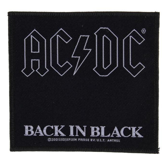 nášivka AC/DC - BACK IN BLACK - RAZAMATAZ