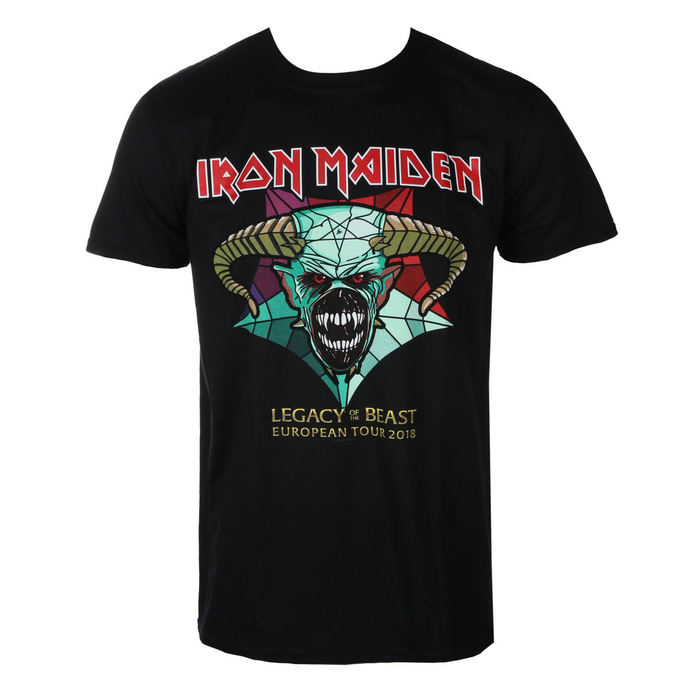 tričko pánské Iron Maiden - Legacy of the Beast European Tour 2018 - Black - ROCK OFF