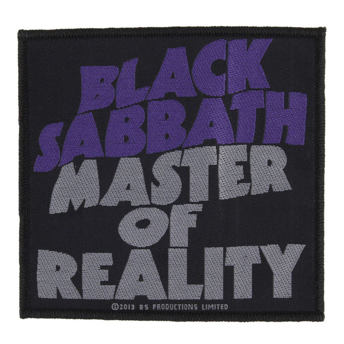 nášivka BLACK SABBATH - MASTER OF REALITY - RAZAMATAZ