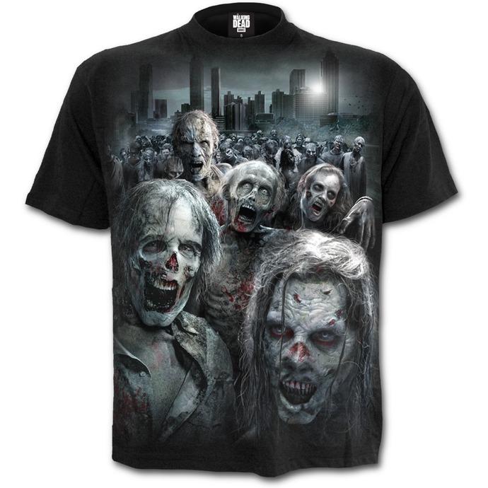 tričko pánské SPIRAL - ZOMBIE HORDE - Walking Dead - Black