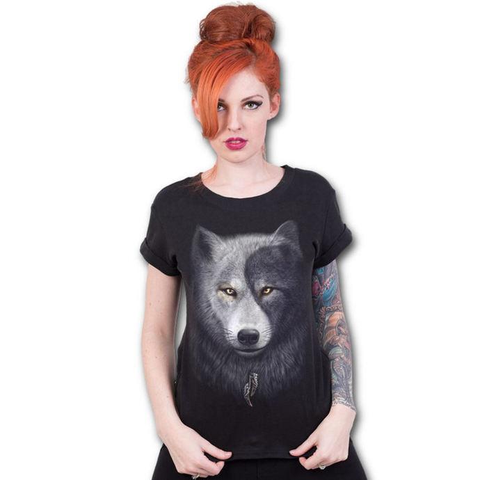tričko dámské SPIRAL - WOLF CHI - Black