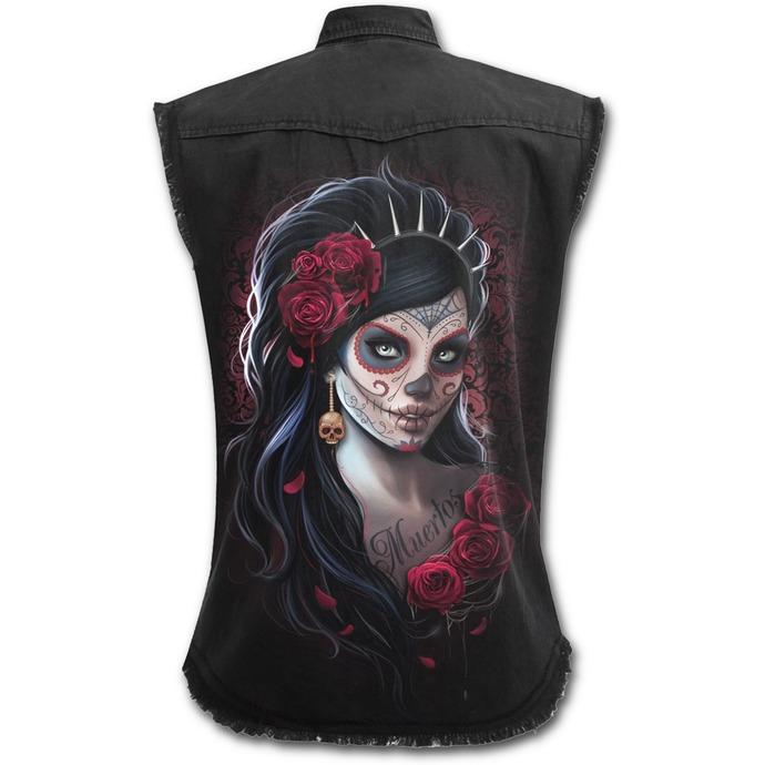 košile dámská bez rukávů SPIRAL - DAY OF THE DEAD - Black