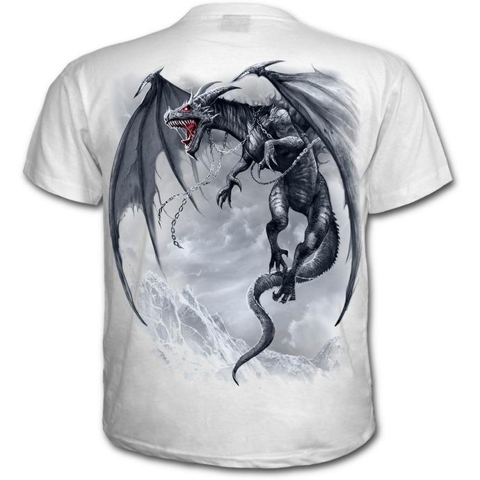 tričko pánské SPIRAL - DRAGON'S CRY - White