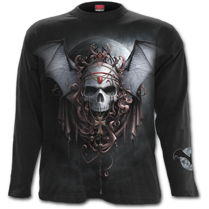 tričko pánské s dlouhým rukávem SPIRAL - GOTH NIGHTS - Black
