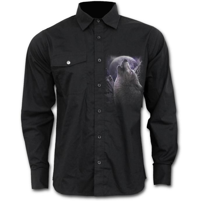 košile pánská s dlouhým rukávem SPIRAL - WOLF SOUL