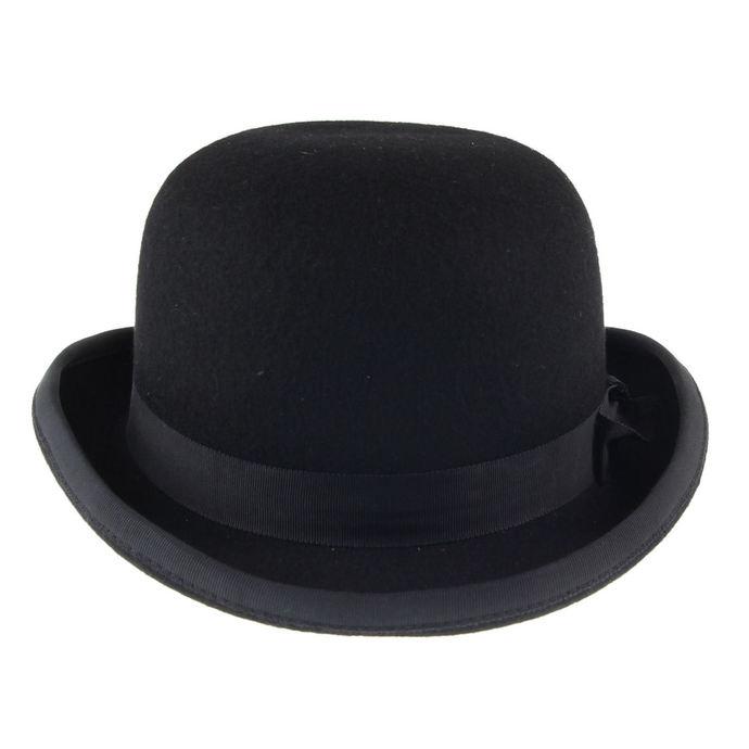 klobouk English Bowler - Black