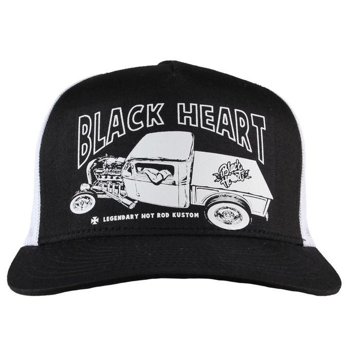kšiltovka BLACK HEART - PICK UP MARK - WHITE
