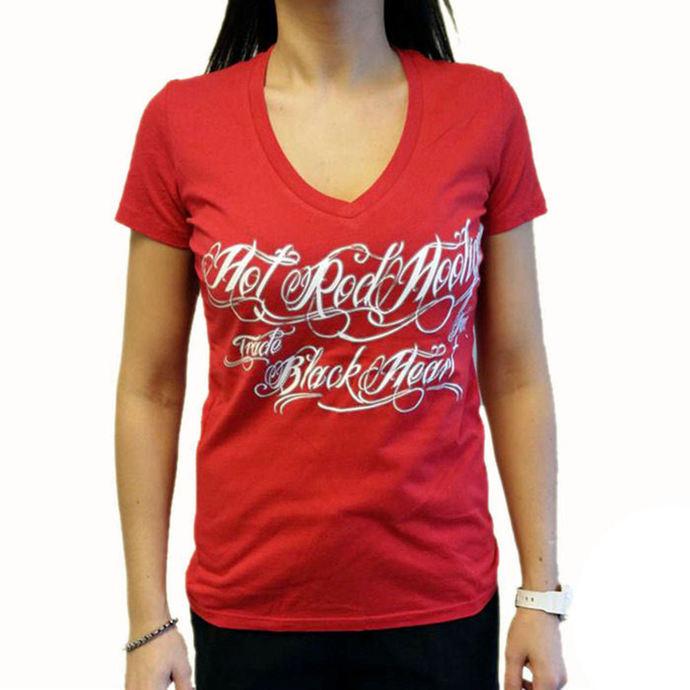 tričko dámské BLACK HEART - HOT ROD HOOLIGAN - RED