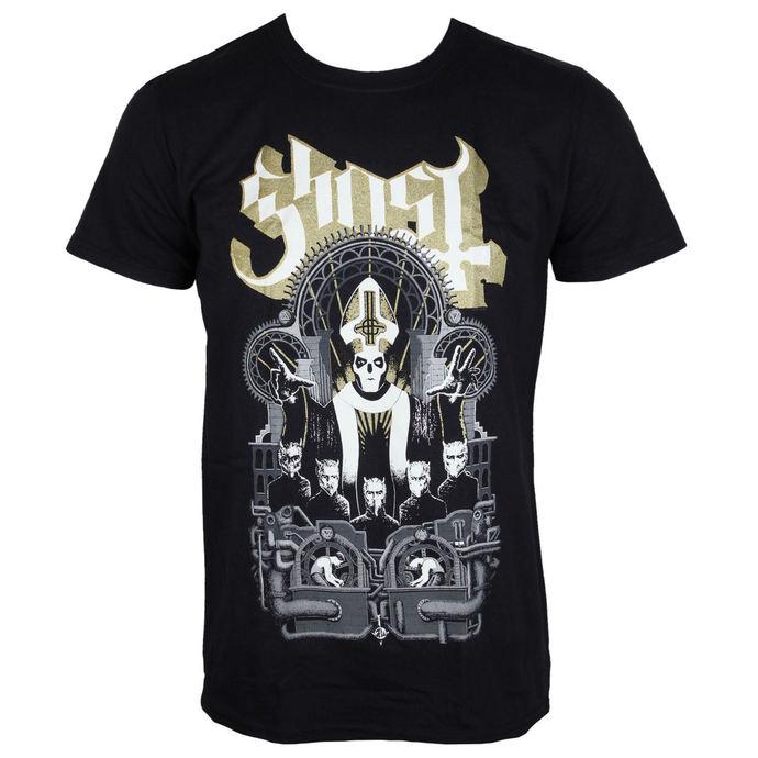 tričko pánské Ghost - Wegner - Black - ROCK OFF