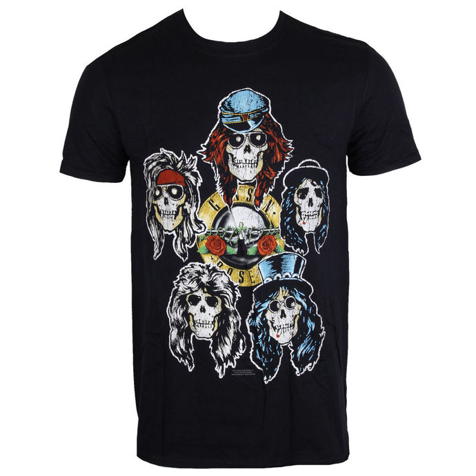 tričko pánské Guns N' Roses - Vintage Heads - Black - ROCK OFF