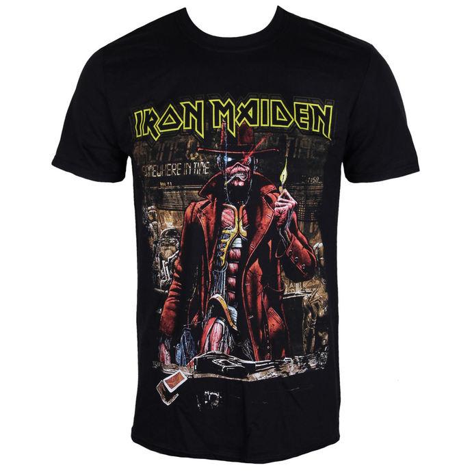tričko pánské Iron Maiden - Stranger Sepia - Black - ROCK OFF