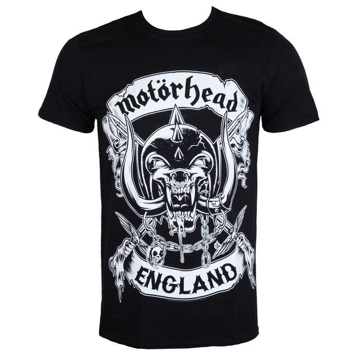 tričko pánské Motörhead - Crosses Sword England - Black - ROCK OFF