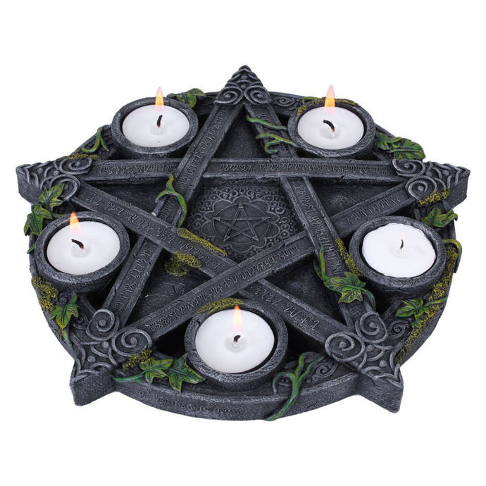 svícen (dekorace) Wiccan Pentagram Tea