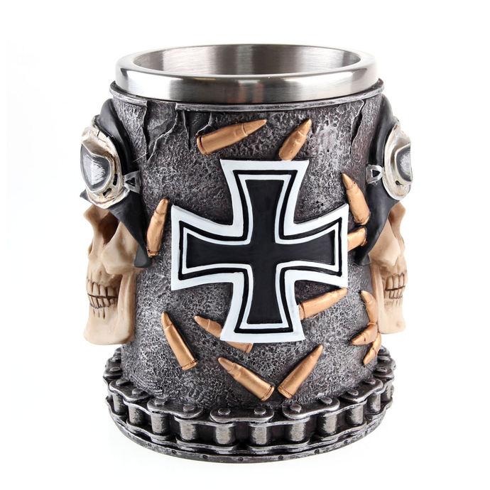 hrnek (korbel) Iron Cross Skull