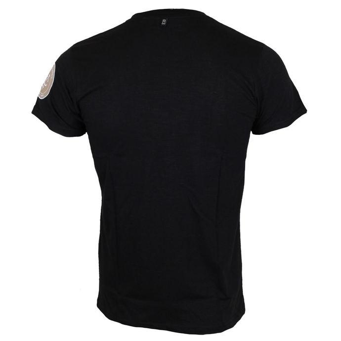 tričko pánské AC/DC - Logo & Angus Applique Slub - Navy - ROCK OFF