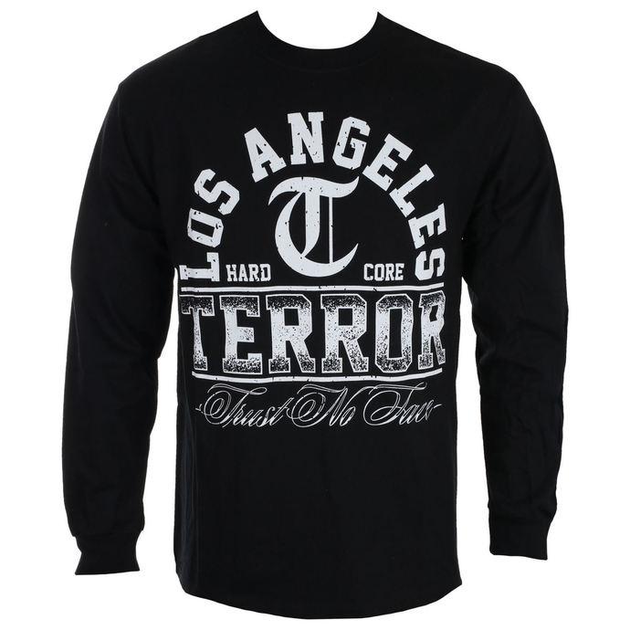 tričko pánské s dlouhým rukávem TERROR - TRUST NO FACE - Black - RAGEWEAR