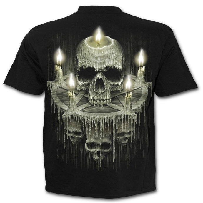 tričko pánské SPIRAL - WAXED SKULL - Black