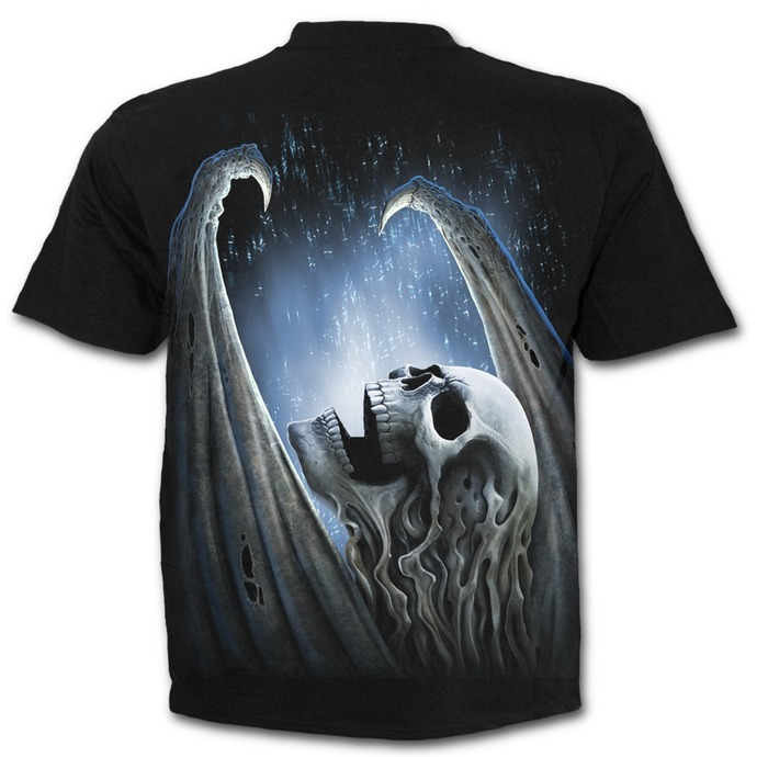 tričko pánské SPIRAL - WINGED SKELTON - Black
