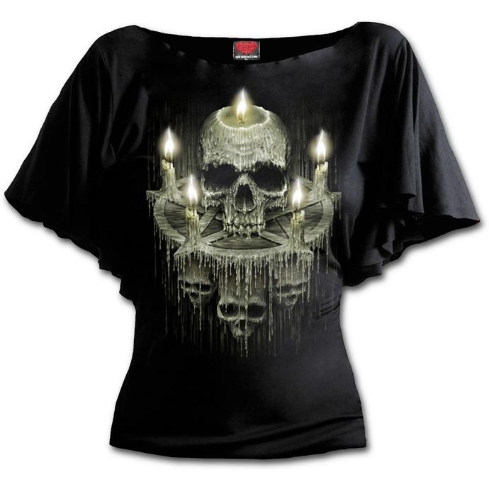 tričko dámské SPIRAL - WAXED SKULL - Black