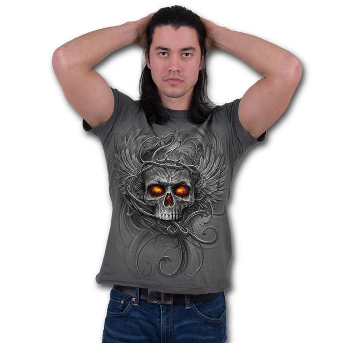 tričko pánské SPIRAL - ROOTS OF HELL - Charcoal