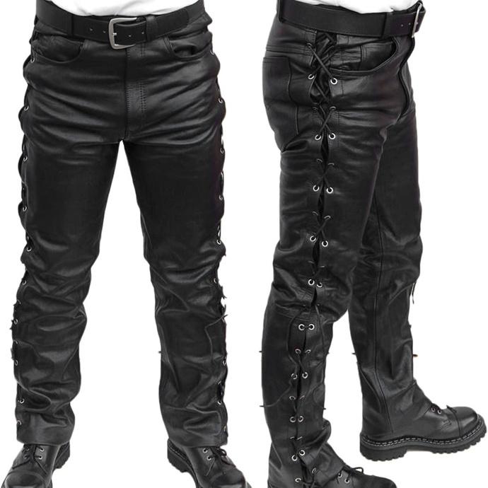kalhoty kožené pánské MOTOR