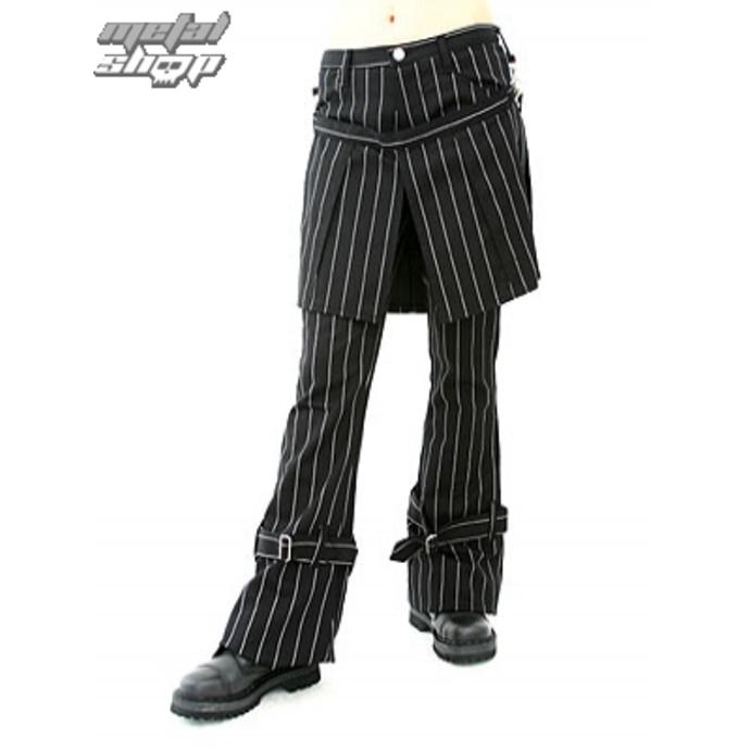 kalhoty dámské Aderlass - Skirt Pants Pin Stripe (Black-White)