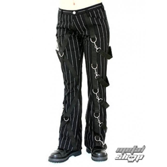 kalhoty dámské Aderlass - Cross Pants Pin Stripe (Black-White)