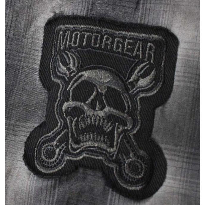 košile pánská LETHAL THREAT - MOTOR GEAR DEATH ROW ENGINE WORKS - DIRTY