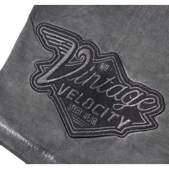 tričko pánské LETHAL THREAT - VINTAGE VELOCITY EAGLE MOTORCYCLE - BLACK