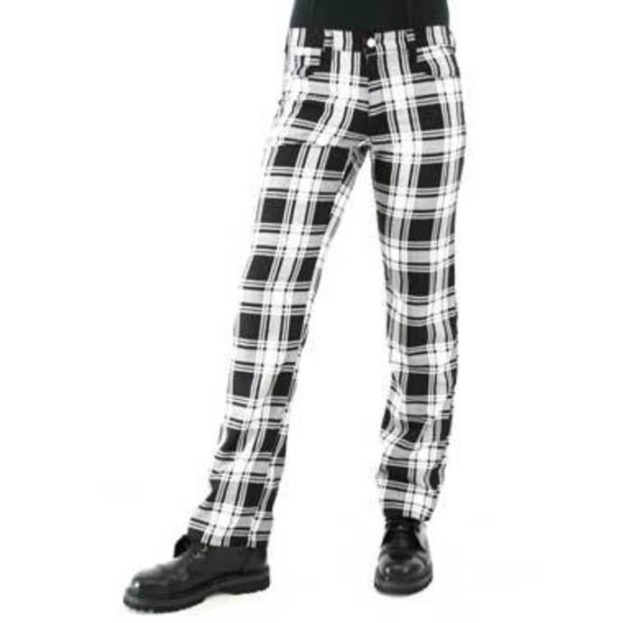 kalhoty pánské Black Pistol - Tartan Pants Black-white