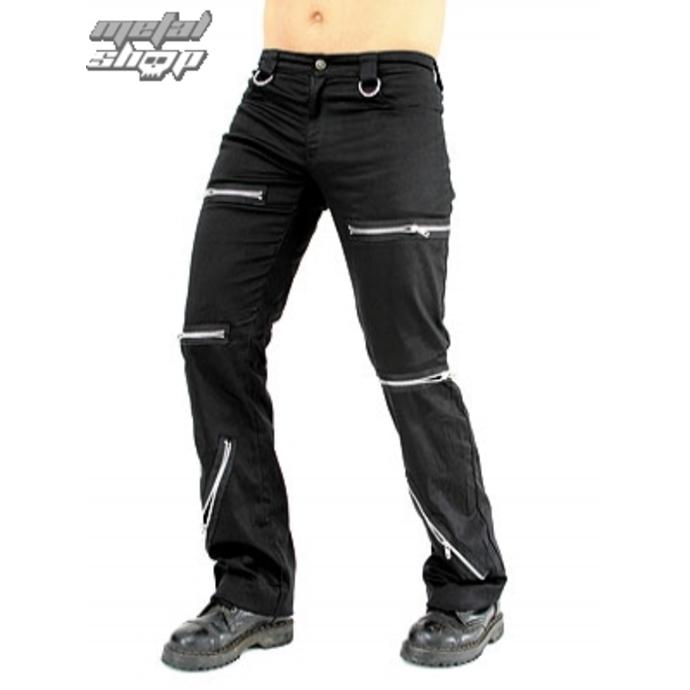 kalhoty pánské Black Pistol - Destroy Pants Denim Black