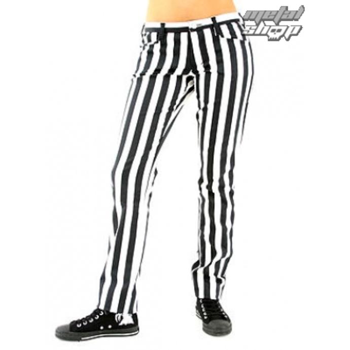 kalhoty dámské Black Pistol - Close Pants Stripe Black/white
